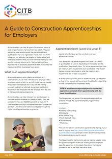 A guide to construction apprentices for employers
